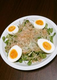つまみ菜&玉葱の和風サラダ