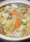 あごだしつゆ&市販のカレールーでカレー鍋