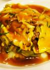 白菜とひき肉でとろ~り卵の中華あんかけ丼