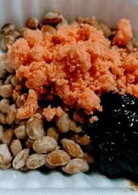 鮭フレーク納豆でごはんですよ❤朝食おかず