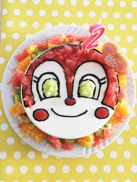 バースディ&ドキンちゃん☆1.2歳ケーキ