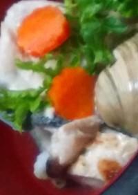 ダンナの釣り魚と 家庭菜園のお野菜鍋