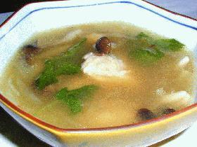 鮭のあんかけスープ