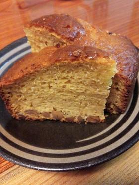 ママおやつ★豆たっぷり味噌パウンドケーキ