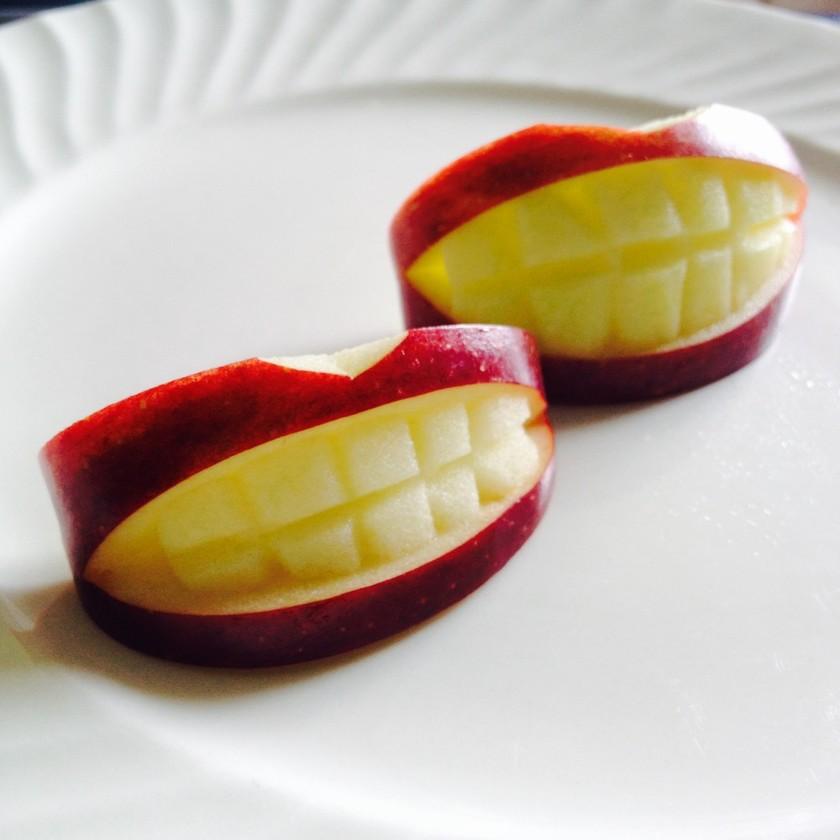 りんごの飾り切り 歯