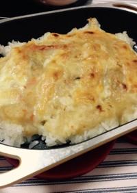 かける派!焼鮭とさつま芋のシチュードリア