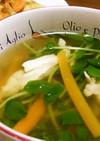 チキチキ豆苗スープ♪