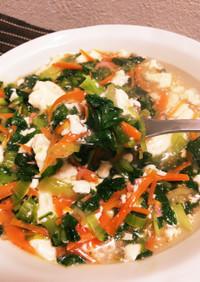 幼児食にも!簡単★青梗菜と豆腐の炒め煮