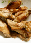 しょうゆ糀とお酢で味付け、テバ中の焼き物
