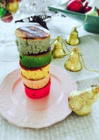 意外と簡単☆レインボーパンケーキ