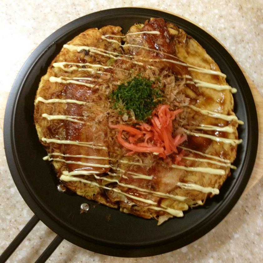 糖質0g中華麺でお好み焼き風