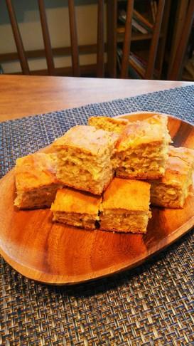 子どもと作る★天板バナナヨーグルトケーキ