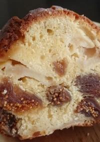 キャラメルりんごと無花果のパウンドケーキ