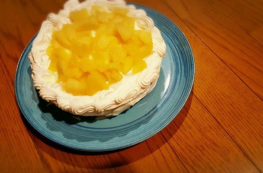 クリスマス誕生日に!りんごショートケーキ