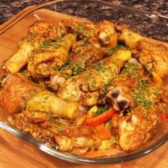骨付き鶏肉のオーブン焼き
