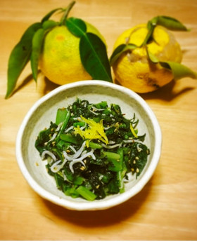 【京都丹波】大根葉の柚子しらす炒め