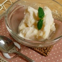 材料3つ。簡単!桃のヨーグルトアイス