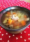我が家の朝食の定番☆簡単野菜スープ