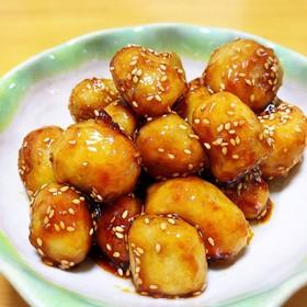 フライパン1つで♬揚げ焼き里芋の甘辛♡