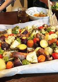豚ヒレ肉と野菜のオーブンロースト