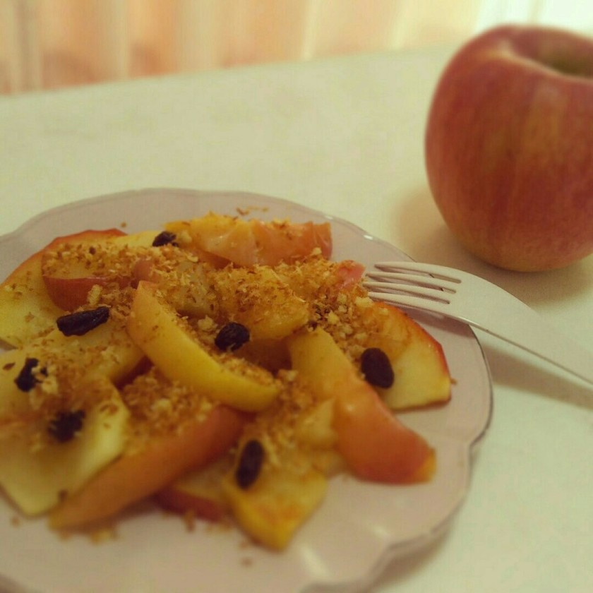 簡単10分でアップルパイ風焼きりんご