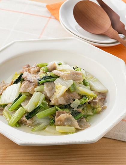 白菜と豚のとろり塩炒め