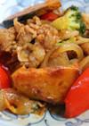 豚肉とたっぷり野菜のBBQソース炒め