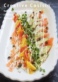山葵マヨ&ハーブサーモンのサラダ