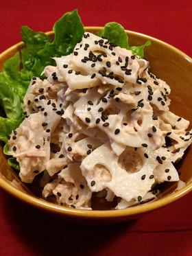 レンコンとツナのサラダ☆鍋料理の副菜にも