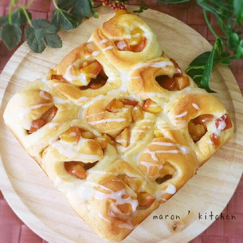 アップルシナモンロールちぎりパン