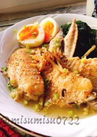 台湾薬膳料理・手羽先で麻油鶏マーヨーチー