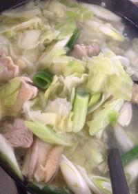 鶏塩ちゃんこ鍋 簡単ver.