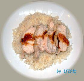 ★簡単炊飯器★シンガポール風チキンライス
