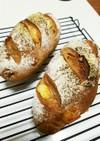 ドライマンゴーとくるみのライ麦パン