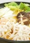 明太餃子の海鮮キムチ鍋