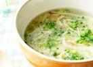 ブロッコリーとかにかまと卵のスープ