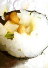 6分de海苔巻きー沢庵納豆