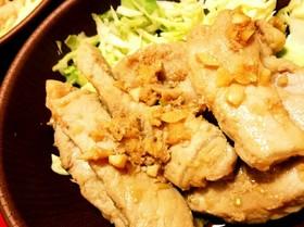 ☆柔らか豚肉ステーキのガーリックトンテキ