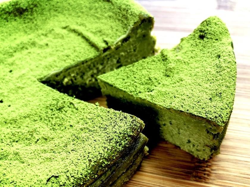 低糖質☆濃厚大豆粉の抹茶チーズケーキ