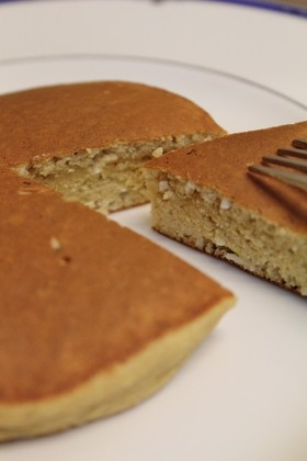 朝昼おやつ♪大豆粉おからPでホットケーキ