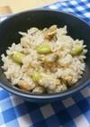 簡単☆枝豆とあさりの炊き込みご飯