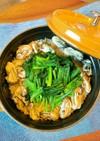 牡蠣とほうれん草の洋風ミルク炊き込みご飯