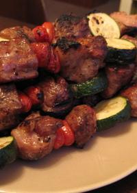 BBQ〜豚でシシカバブ