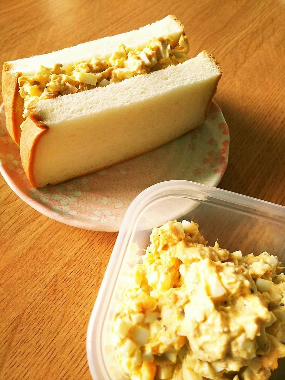ピリ辛サンドイッチ用玉子(玉子&ツナ)❤