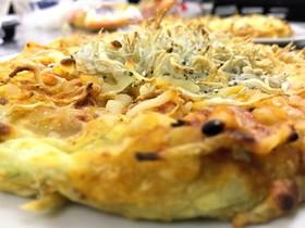 しらすとチンゲン菜のピザ