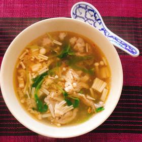 ヤマブシタケの旨味がすごい中華風スープ