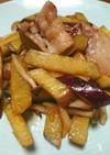 豚バラ肉とさつまいものピリ辛炒め