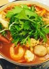 トマト鍋〜〆はカレーリゾットに