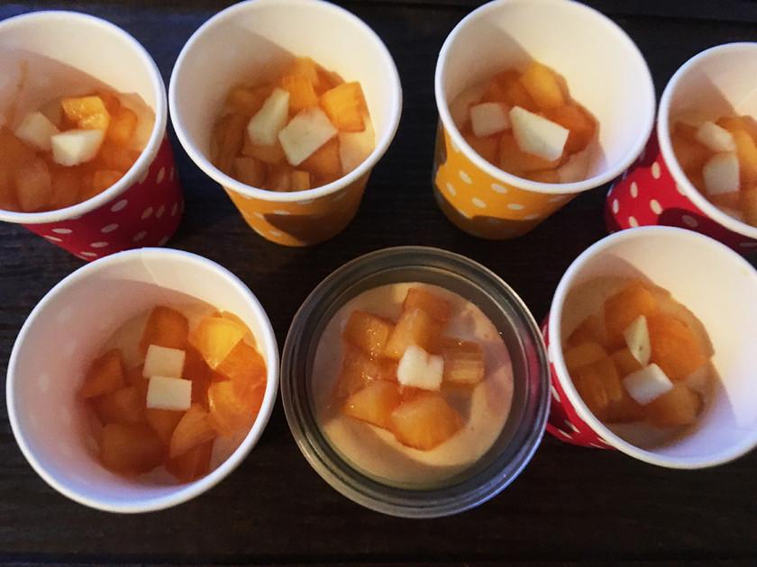 柿と豆乳ヨーグルトのフルフル