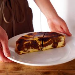 コーヒー風味のカッテージチーズアップサイドダウンケーキ